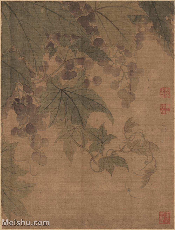 【印刷级】GH6062702古画恽寿平-花果蔬菜(2)册页图片-27M-2359X3096.jpg