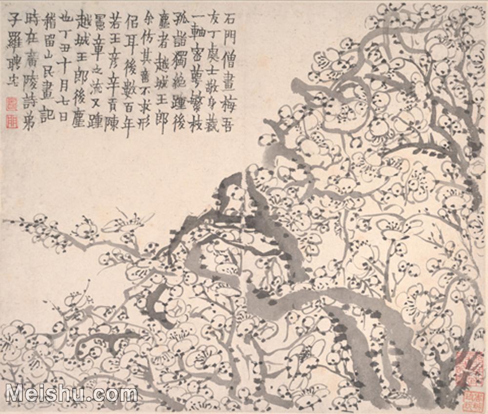 【印刷级】GH6064657古画清-金农-梅花图册-大都会博物馆-(2)册页图片-38M-4000X3390.jpg
