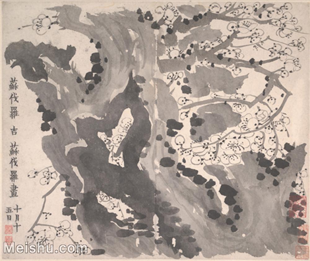 【印刷级】GH6064661古画清-金农-梅花图册-大都会博物馆-(6)册页图片-38M-4000X3376.jpg