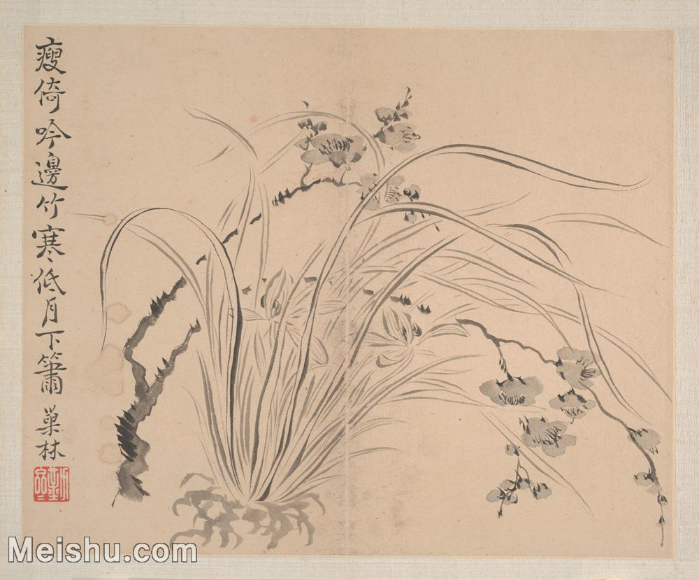 【印刷級】GH6080458古畫花卉鮮花鳥清代汪士慎巢林植物花卉小品圖片-37M-3972X3294.jpg