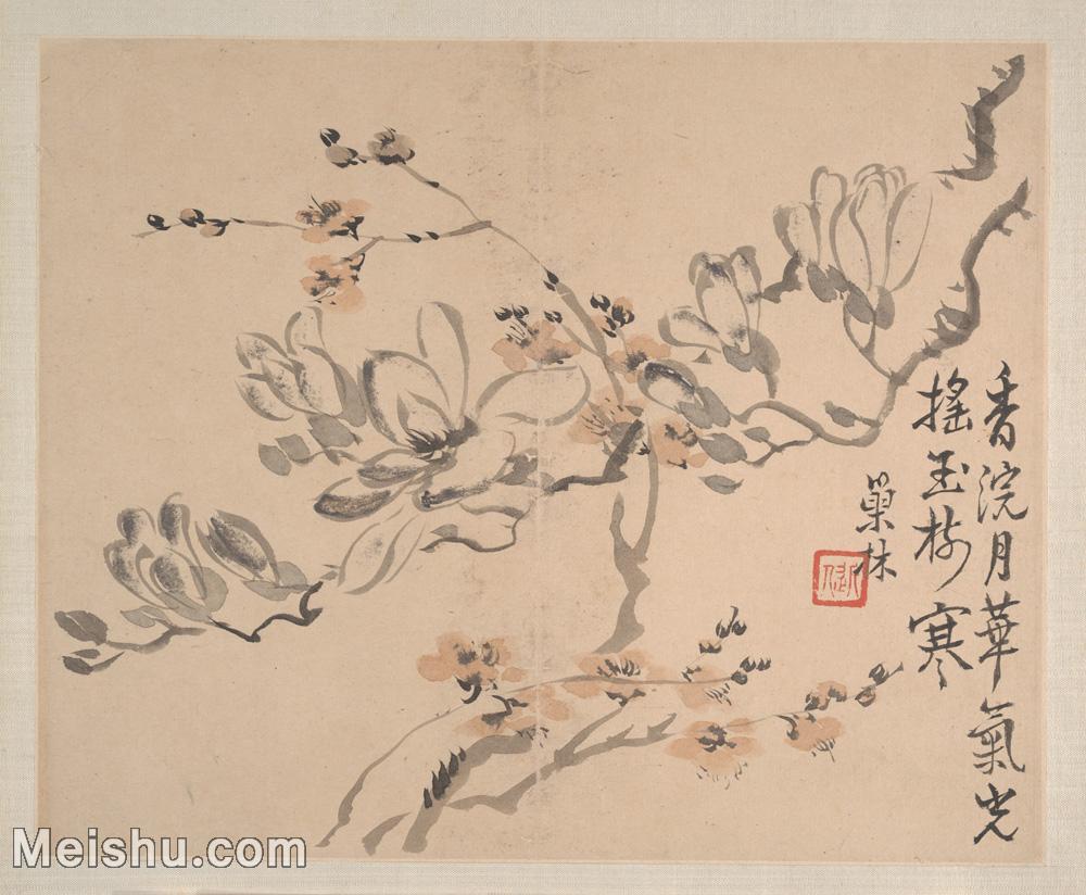 【印刷級】GH6080457古畫花卉鮮花鳥清代汪士慎巢林植物花卉小品圖片-37M-3974X3275.jpg