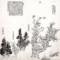 【印刷级】GH6065023古画王概-芥子园画谱册页图片-33M-3834X3081