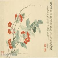 【印刷級】GH6063782古畫花卉冊-(1)冊頁圖片-53M-5150X3603