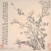【印刷级】GH6064655古画清-金农-梅花图册-大都会博物馆-(10)册页图片-38M-4000X3376