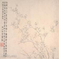 【印刷级】GH6064663古画清-金农-梅花图册-大都会博物馆-(8)册页图片-38M-4000X3362