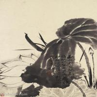 【印刷级】GH6062443古画石涛花卉册(3)册页图片-44M-3249X4823