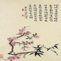 【印刷级】GH6062447古画石涛花卉册(7)册页图片-43M-3183X4823