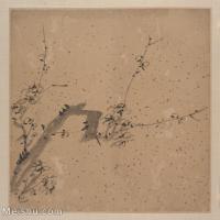 【印刷級】GH6063218古畫古代植物墨梅花冊頁圖片-37M-3489X3729