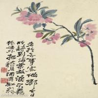 【印刷级】GH6062440古画石涛花卉册(1)册页图片-44M-3221X4823