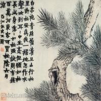 【印刷级】GH6064948古画清金农扬州八怪册页-(14)册页图片-28M-3616X2800