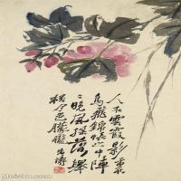 【印刷级】GH6062444古画石涛花卉册(4)册页图片-43M-3178X4823_57187127