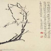 【印刷级】GH6062446古画石涛花卉册(6)册页图片-44M-3199X4823