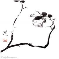 【印刷級】GH6085395古畫樹木植物-涉事小品圖2-清-朱耷-紙本-30x40-90x120-小花朵鮮花卉-八大山人立軸圖片-95M-4567X6063