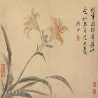 【印刷级】GH6062751古画恽寿平-花鸟图册8开(8)册页图片-90M-6027X4465