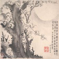 【印刷级】GH6064658古画清-金农-梅花图册-大都会博物馆-(3)册页图片-38M-4000X3376