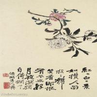 【印刷级】GH6062449古画石涛花卉册(9)册页图片-43M-3121X4823