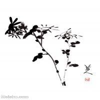 【印刷級】GH6085394古畫樹木植物-野花圖-清-朱耷-紙本-30x40-90x120-小花朵鮮花卉-八大山人立軸圖片-210M-7087X9449