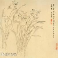 【印刷級】GH6080315古畫花卉鮮花鳥清代王翚-蘭花卉小品圖片-49M-5105X3392