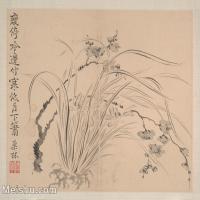 【印刷級】GH6080458古畫花卉鮮花鳥清代汪士慎巢林植物花卉小品圖片-37M-3972X3294
