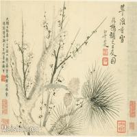 【印刷級】GH6063785古畫花卉冊-(12)冊頁圖片-52M-5088X3599