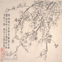 【印刷级】GH6064664古画清-金农-梅花图册-大都会博物馆-(9)册页图片-38M-4000X3384