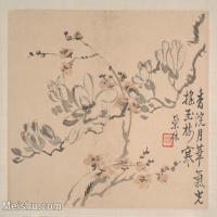 【印刷級】GH6080457古畫花卉鮮花鳥清代汪士慎巢林植物花卉小品圖片-37M-3974X3275