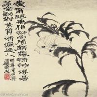 【印刷级】GH6062442古画石涛花卉册(2)册页图片-43M-3128X4823_57186082
