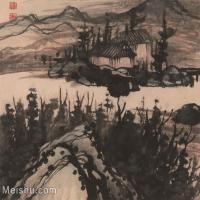 【印刷级】GH6081018古画山水风景石涛-设色山水09小品图片-41M-3903X3328