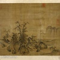 【印刷级】GH6081025古画山水风景郭熙-窠石平远图小品图片-26M-3359X2733