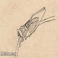 【印刷级】JXD6193988近现代国画草虫昆虫-齐白石全集图片-21M-