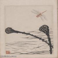【超顶级】JXD6190072近现代国画齐白石作品花卉草虫--水墨-30x41.5-80x111-花卉-草虫-莲藕-蜻蜓册页图片-140M-