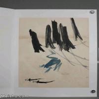 【超顶级】JXD6190240近现代国画齐白石作品鱼虾图册--水墨-30x39.5-40x52.5-青蛙-多子多孙