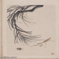 【超顶级】JXD6190082近现代国画齐白石作品花卉草虫--水墨-30x40.5-80x108-花卉-草虫-螳螂册页图片-139M-