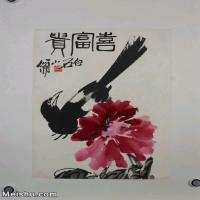 【超顶级】JXD6190090近现代国画齐白石作品花鸟--水墨-30x43.5-40x58-花卉-牡丹-富贵册页图片-106M-