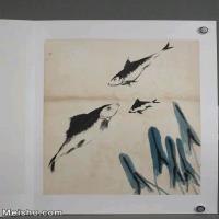 【超顶级】JXD6190243近现代国画齐白石作品鱼虾图册--水墨-30x39.5-40x52.5-鱼