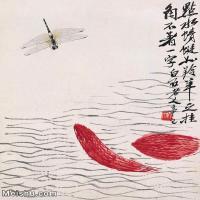 【打印级】JXD6192933近现代国画齐白石作品点水蜻蜓小品图片-36M-