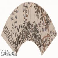 【打印级】JXD6192507近现代国画折枝花卉-齐白石国画水墨-65x30.5-74x35-紫藤花-图片-76M-