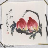 【超顶级】JXD5265850近现代国画名家齐白石寿桃花鸟植物图片-527M-15