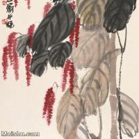 【打印级】JXD6193437近现代国画草木植物-齐白石全集图片-43M-