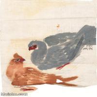 【打印级】JXD6195327近现代国画飞禽鸟雀-齐白石全集图片-58M-