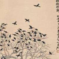 【打印级】JXD6195201近现代国画飞禽鸟雀-齐白石全集图片-103M-