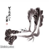 【超顶级】JXD5265483近现代国画名家菜圃-齐白石国画水墨小品-33.5x30-78x70-白菜-百财花鸟植物图片-280M-