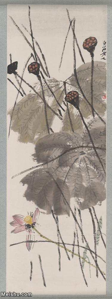 【超顶级】JXD6192172近现代国画齐白石作品荷塘立轴图片-837M-10.jpg