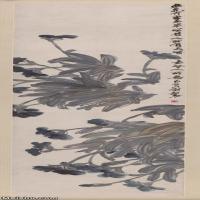 【超顶级】JXD5260203近现代国画兰图-齐白石国画水墨立轴-30x120-35x140-花卉-兰花-290M-4608X