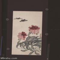 【超顶级】JXD5260206近现代国画红花双蝶图-齐白石国画水墨立轴-30x59-35x68.5-花卉-蝴蝶-349M-8256X