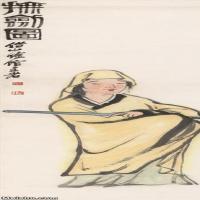 【超顶级】JXD5250410近现代高清国画抚剑图-齐白石国画水墨立轴-30x107.5-40x143.5-人物人物图片-296M-4