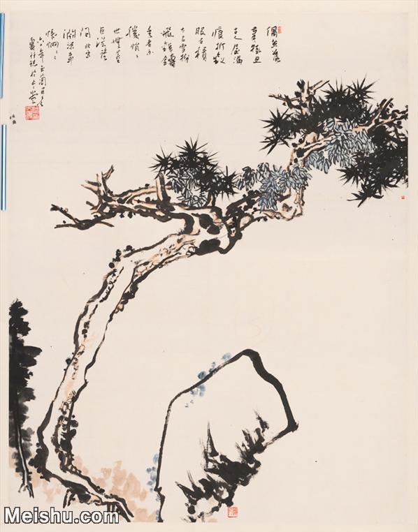 【超顶级】JXD5241449近现代国画潘天寿-松石图140x180山水风景图片-1106M-17.jpg