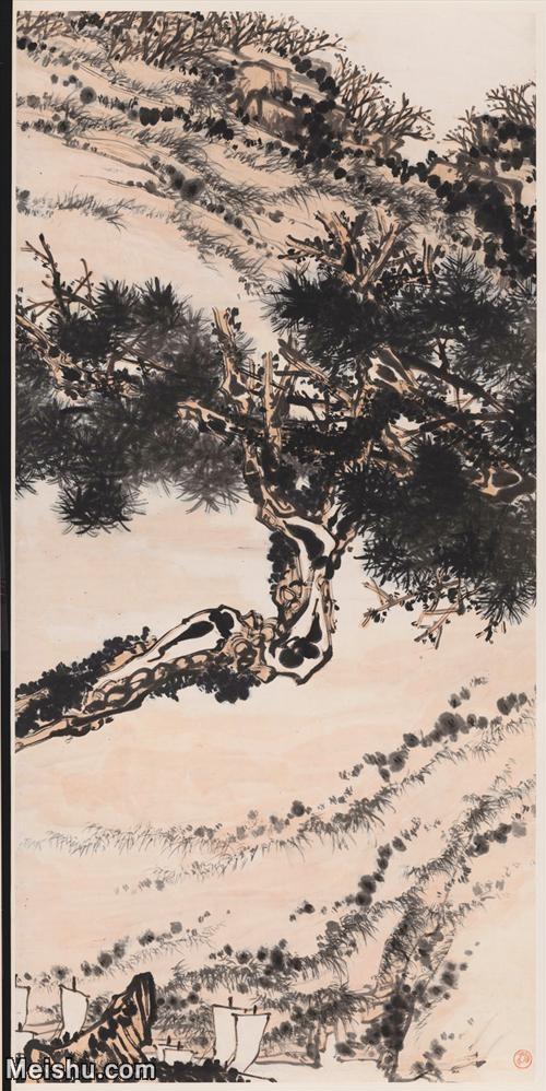 【超顶级】JXD5240474近现代国画潘天寿-铁石帆运121x249山水风景图片-1293M-15.jpg