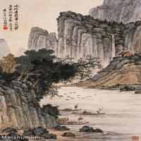 【超頂級】JXD5240531近現代國畫袁松年山水風景圖片-162M-