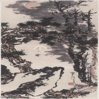 【超顶级】JXD5240475近现代国画潘天寿立轴山水植物山水风景图片-2213M-18